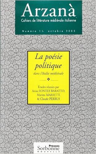 Télécharger en ligne La poésie politique dans l'Italie médivale pdf