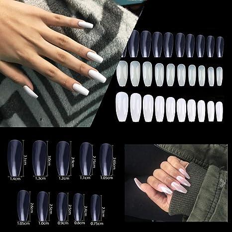 Coffin Nails 600 uñas postizas de acrílico natural para salón de uñas y decoración de uñas