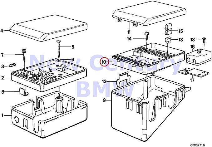 amazon.com: bmw genuine fuse box fuse box 635csi m6 325e 325i ...  amazon.com