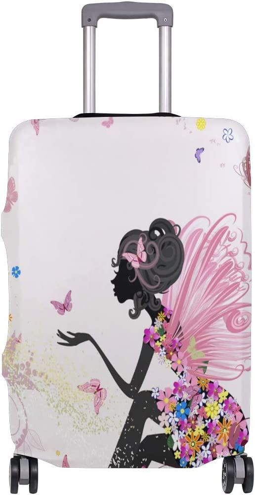 GIOVANIOR Flower Fairy Woman Butterfly Luggage Cover Suitcase Protector Carry On Covers