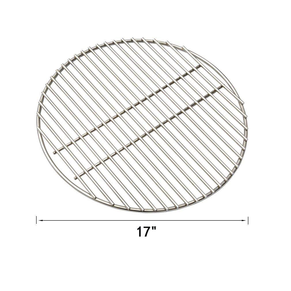 KAMaster 17'' BBQ High Heat Stainless Steel Charcoal Fire Grate Fits for XL Big Green Egg Fire Grate and Other Grill Parts Charcoal Grate Replacement Accessories(17'') ... by KAMaster