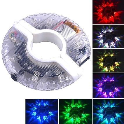 LYCOS3 Luces LED para Rueda de Bicicleta, 3 Modos, Coloridas, Resistentes al Agua