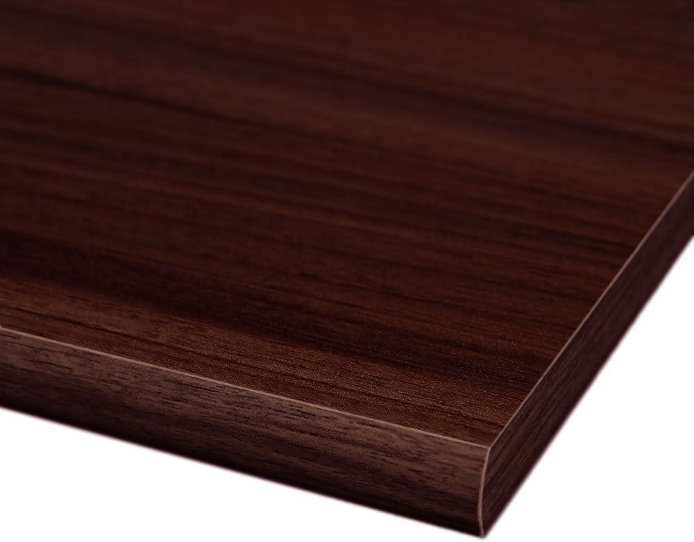 runde Kante 4 Seiten umleimt M/öbelbauplatte Regalbrett Nussbaum 2000 x 200 x 16 mm
