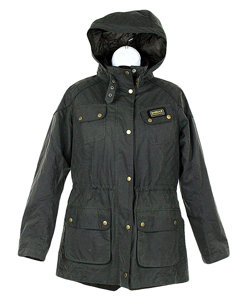 5835a9d89ecf0 Amazon.com: J Crew Barbour Hawkstone Parka in Sage Green Style 96179 Size  12 UK 8 US: Clothing