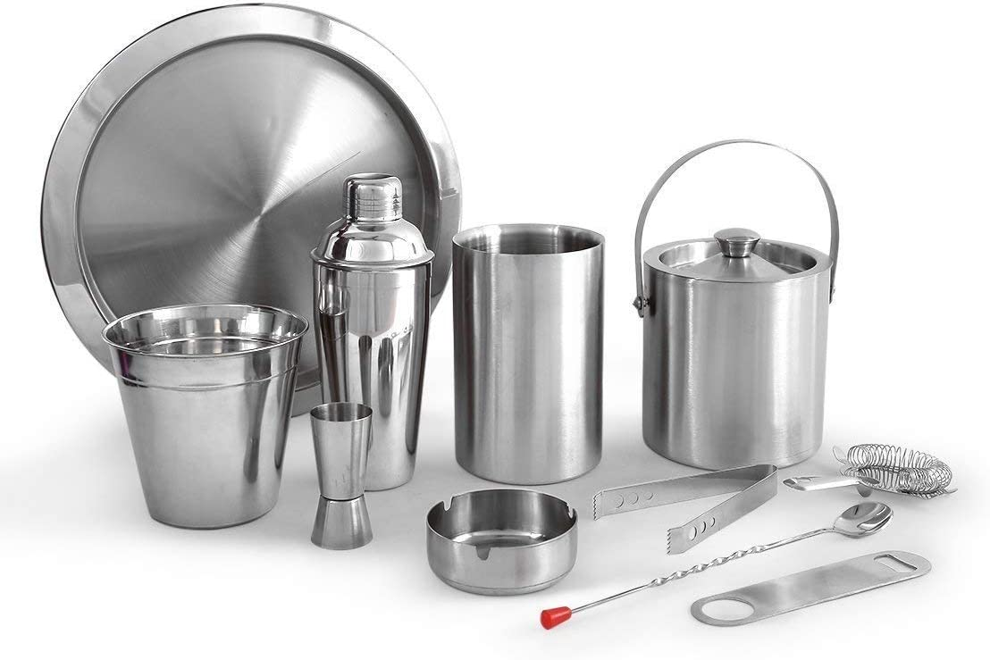 Silver Ulooie Acier inoxydable Bartender Ice Passoire /à cocktail Shaker filtre Outil pour barre