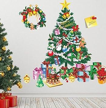 Frohe Weihnachten Flugzeug.Renyqing Frohe Weihnachten Wand Fenster Abnehmbare Viny