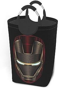KSHGZH Laundry Basket Collapsible Laundry Hamper - Iron Man Mask Clothes Bag Storage Basket, Folding Washing Bin 50l