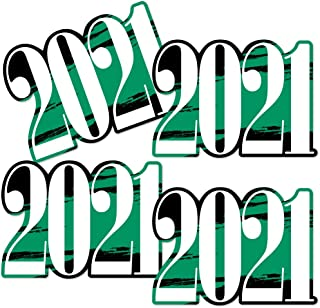 product image for Big Dot of Happiness Green Grad 2021 - Best is Yet to Come - 2021 Decorations DIY Green Graduation Party Essentials - Set of 20