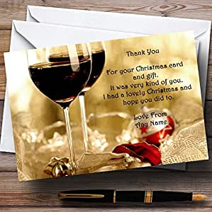 Mulled Wine Personalized Christmas//New Year//Holiday Party Thank You Cards