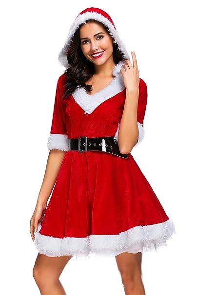 Amazon.com: cuteshower Navidad Ropa Disfraz Sexy Outfit ...