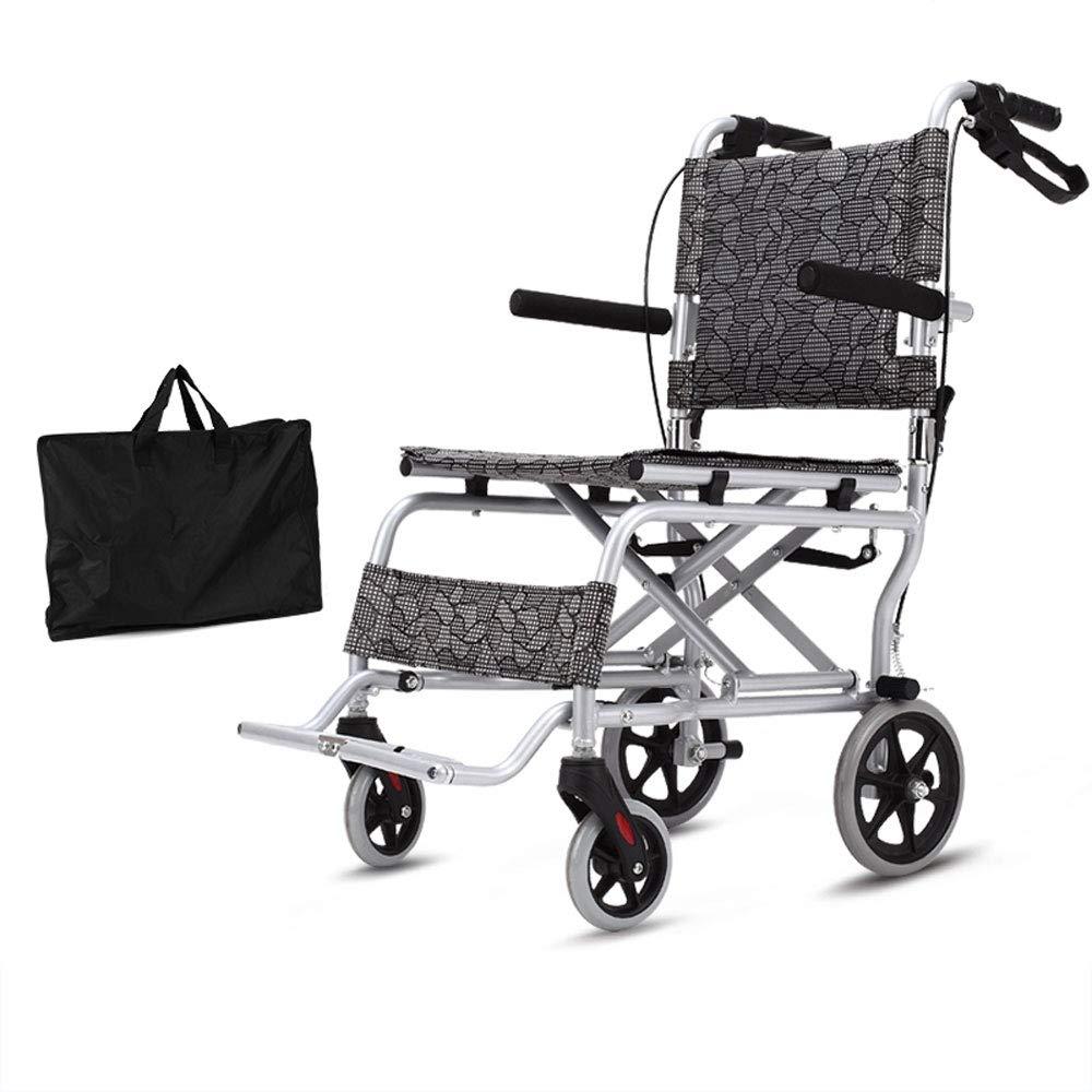 Mei Xu 車椅子 - 軽量折りたたみ高齢者車椅子ポータブルアルミ合金高齢者旅行トロリーサイズ-88x52x90cm スイングアウェイフットレスト   B07PR8Q25T