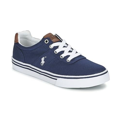 Polo Ralph Lauren - Zapatillas de Piel para niño, Color Azul, Talla 28 EU Niño: Amazon.es: Zapatos y complementos