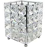 Miaowater Makeup Brush Holder Organizer Cosmetic Brushes Storage Eyeliners Eyebrow Pencil Container Crystal Bling…