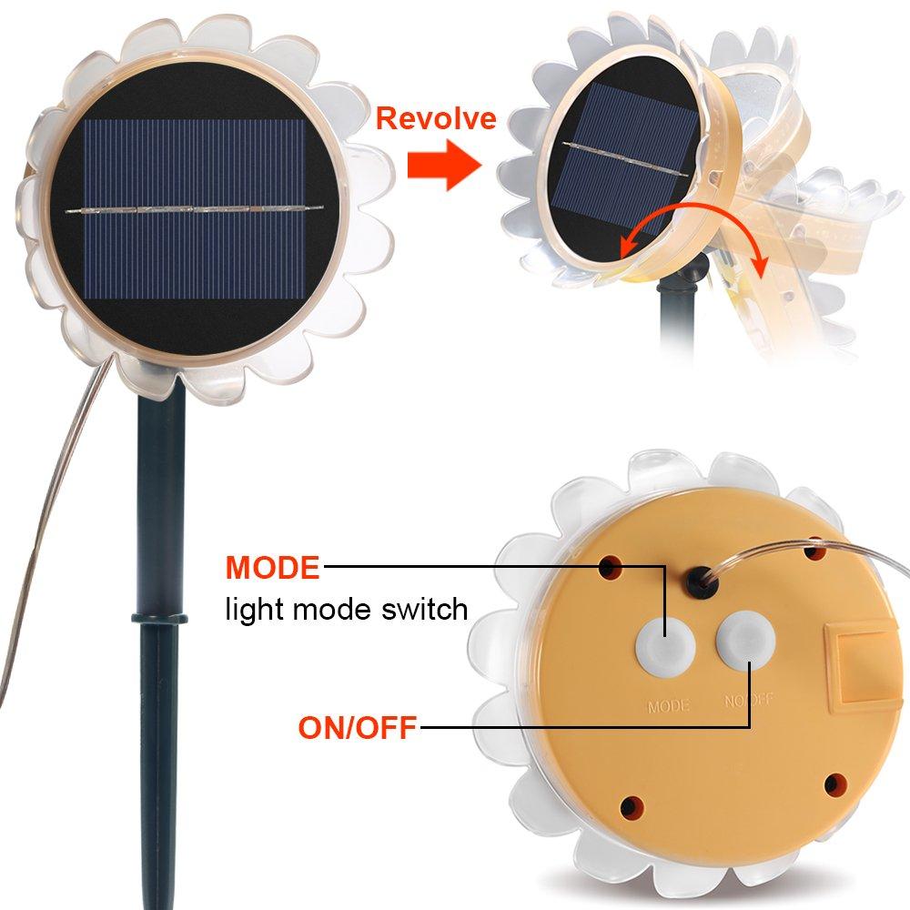 Solar Lichterkette, 49Ft/15M Solar Garten Laterne 150er LED ...