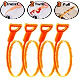Father.son Hair Drain Clog Remover Drain Snake Cleaning Tool 4 pcs