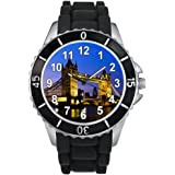 Tower Bridge à Londres - Montre Unisex - Bracelet Silicone Noir