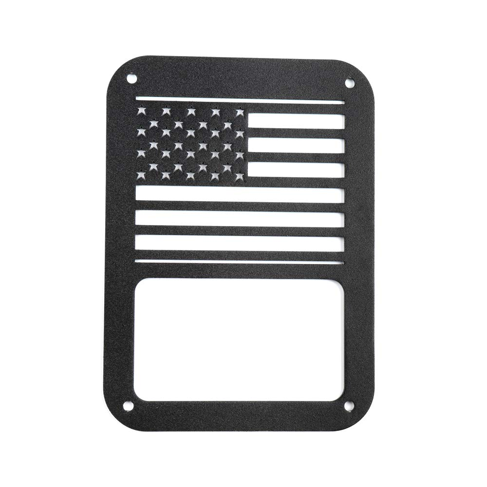 ECCPP Tail Light Cover USA Flag for 2007-2018 Jeep Wrangler JK American Flag Tail Light Cover Rear Protector-Never Rust,Pack of 2