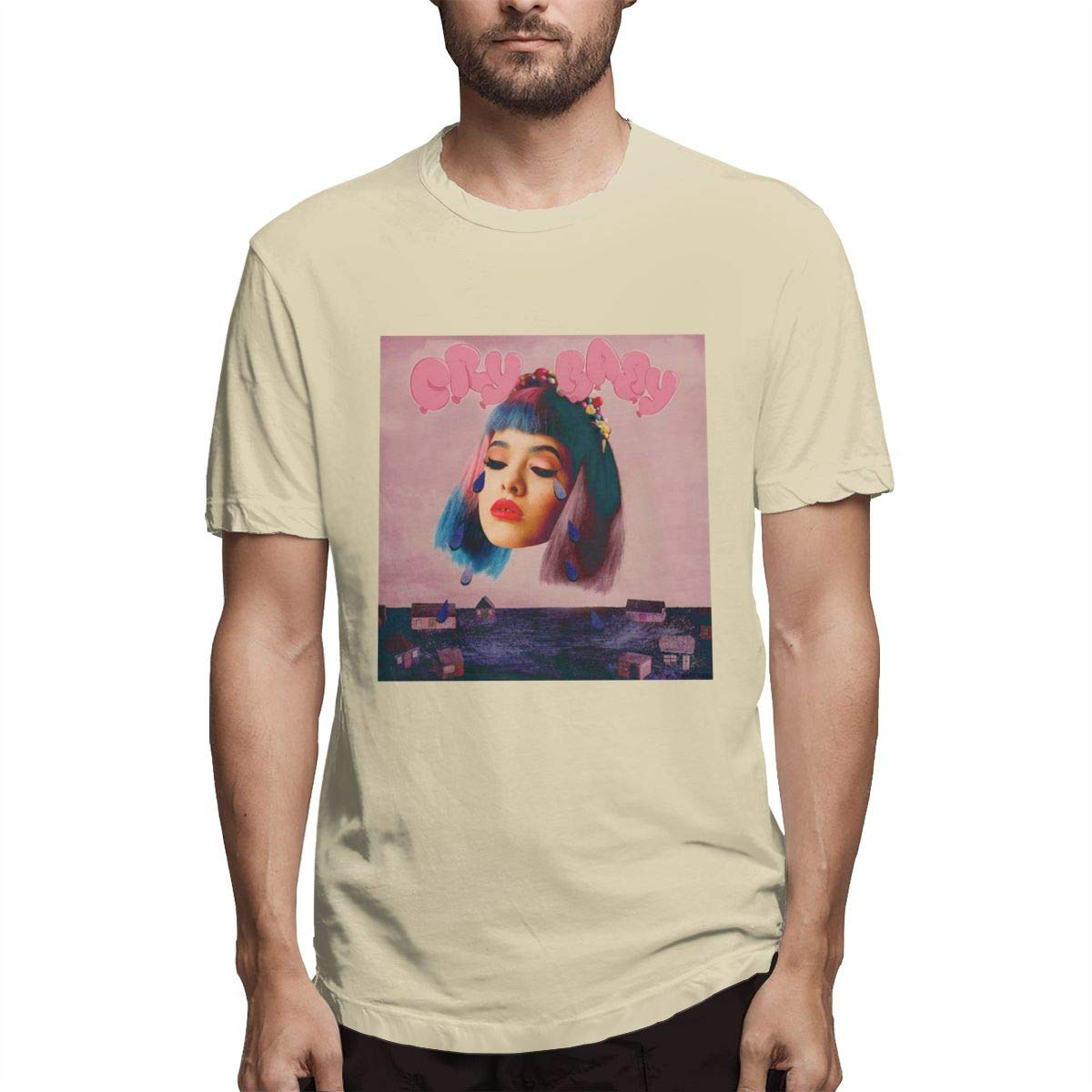 VIIHAHN Men Melanie Martinez Cry Baby Logo Logo Tennis Round Neck Short Sleeve T Shirts