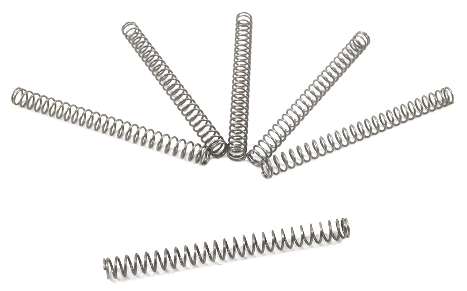 Forney 72612 Wire Spring Compression, 1/8-Inch-by-1-3/8-Inch-by-.014-Inch, 6-Pack