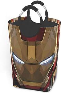 KSHGZH Laundry Basket Collapsible Laundry Hamper - Iron Man Art Clothes Bag Storage Basket, Folding Washing Bin 50l