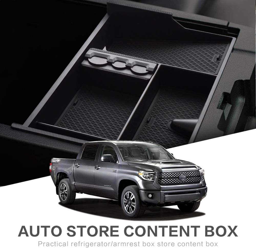 Center Console Insert Pallet Organizer for Toyota Tundra 2007-2018 Sequoia 2008-2018 ABS Tray Armrest Box Glove Box Secondary Storage Accessories
