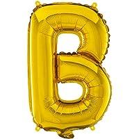 Balão Metalizado Letra B - 40Cm - Ouro - Mundo Bizarro