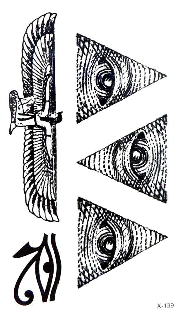Amazon.com ancient Egyptian eye of Horus temporary tattoo