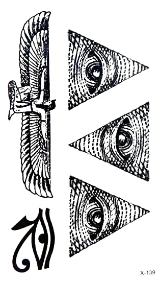 dbd110b74 Amazon.com: ancient Egyptian eye of Horus temporary tattoo Stocking  Stuffers: Clothing