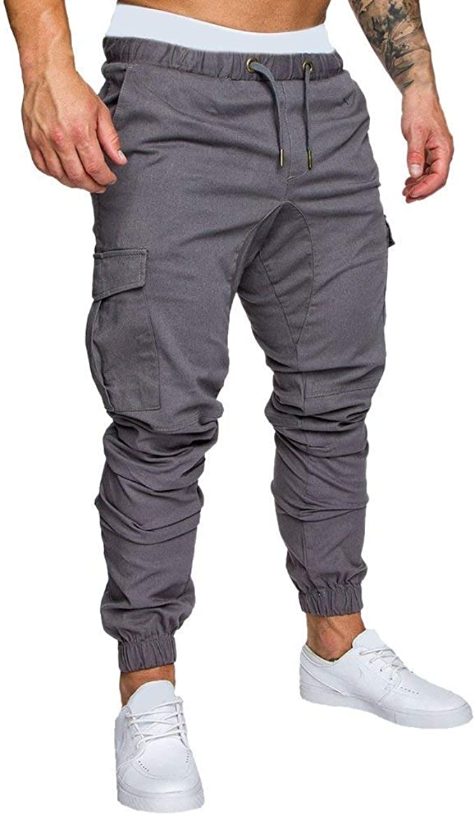 HaiDean Pantalones De Hombre Pantalones De Harén Pantalones ...