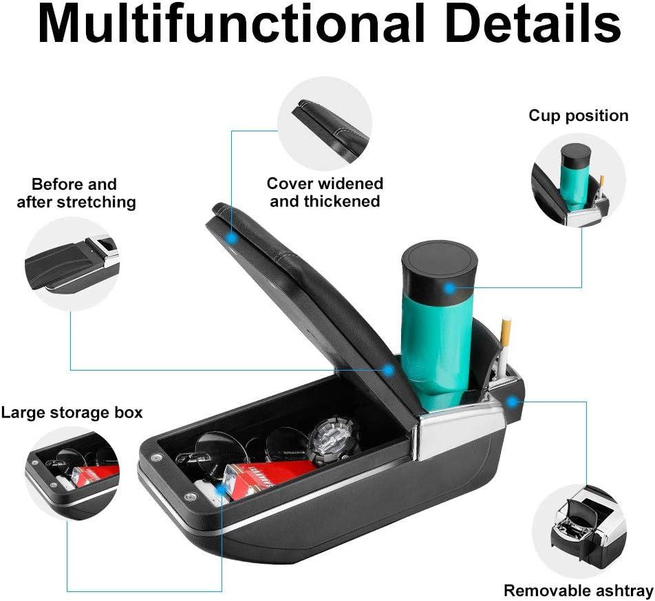 HCDSWSN per Ford KA Plus 2015 2019 Hatchback Box per braccioli per Auto Scatola di immagazzinaggio per Container Centrale in Pelle PU Accessori per Lo Styling dellauto