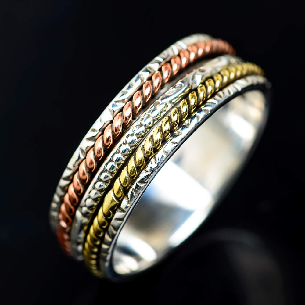 - Handmade Jewelry Ana Silver Co Meditation Spinner Ring Size 11.75 Vintage RING939360 Bohemian 925 Sterling Silver
