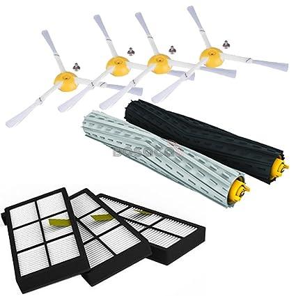 Pack de 10 Cepillos Laterales iRobot Roomba Series 800 860 865 866 870 871 880 885 886 890 900 960 966 980