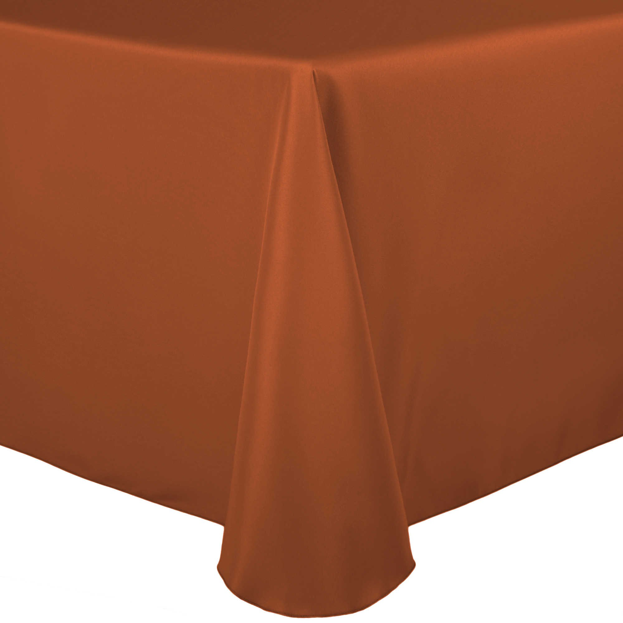 Ultimate Textile (20 Pack) 90 x 132-Inch Rectangular Polyester Linen Tablecloth with Rounded Corners - for Wedding, Restaurant or Banquet use, Burnt Orange by Ultimate Textile (Image #3)