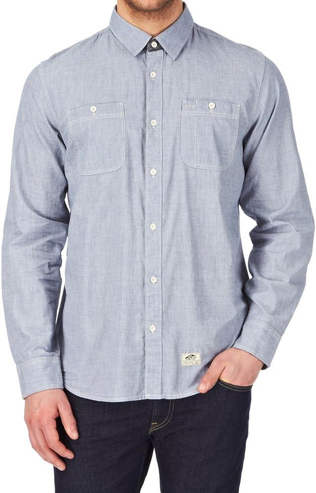 Vans Guilder LS Camisa, Azul, 2XL para Hombre: Amazon.es: Ropa y accesorios