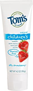 product image for Tom's of Maine Fluoride Free Children's Toothpaste, Silly Strawberry, 4.20 oz