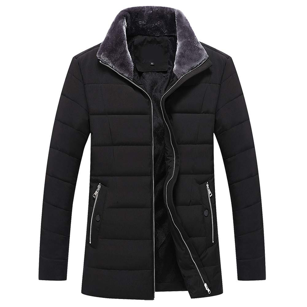 Rambling Mens Autumn Winter Plus Thick Warm Cotton Padded Clothes Collar Coat