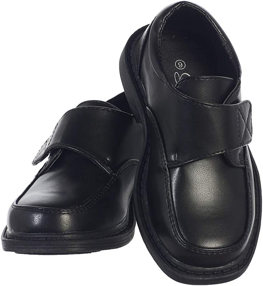 Lito Toddler Boys Black Matte Special Occasion Dress Shoes 10