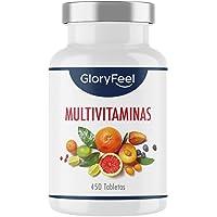 Multivitaminas y Minerales - 450 Comprimidos Veganos (Suministro para 1+ año) - Todas las…