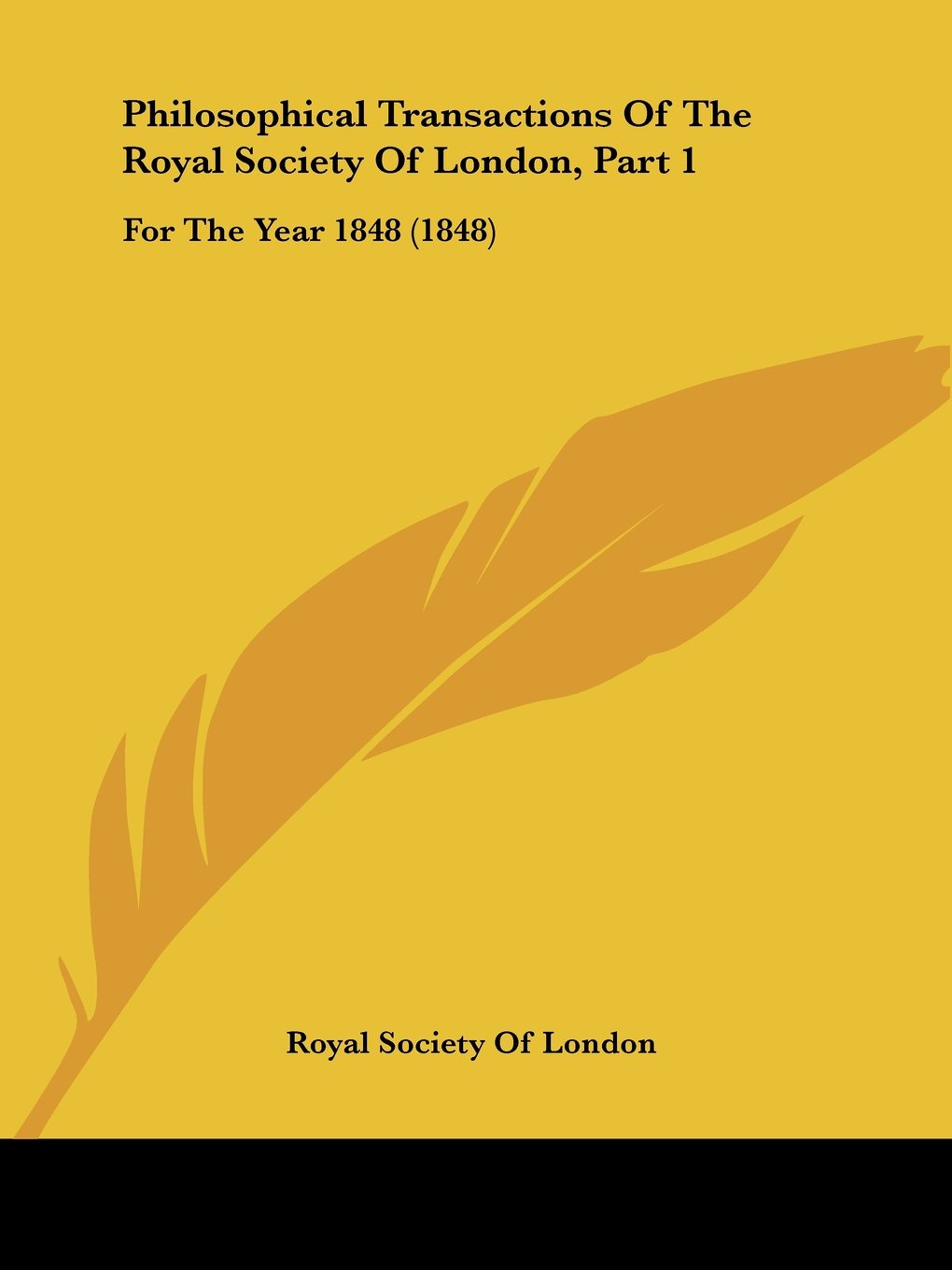 Philosophical Transactions Of The Royal Society Of London, Part 1: For The Year 1848 (1848) PDF