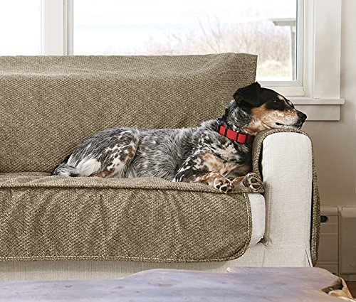 Orvis Grip-Tight Furniture Protector/Only X-Large Sofa Protector 86'' w, Brown Tweed