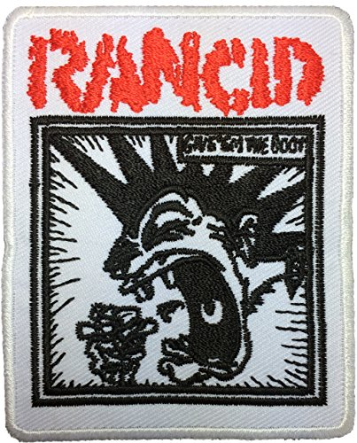 [Rancid size 8 x 6cm. Music Band Logo Jacket Vest shirt hat blanket backpack T shirt Patches Embroidered Appliques Symbol Badge Cloth Sign Costume] (80s Rock Costumes)