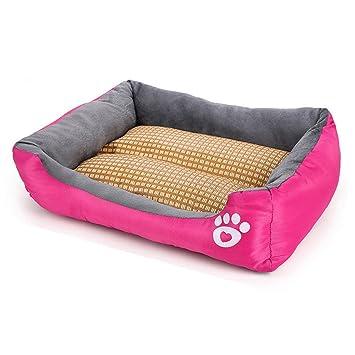 Premewish Alfombrilla de Refrigeración para Mascotas de bambú Refrigeración de caseta de Verano, para Dormir de Hielo, Cama de bambú, Mantiene a Las ...