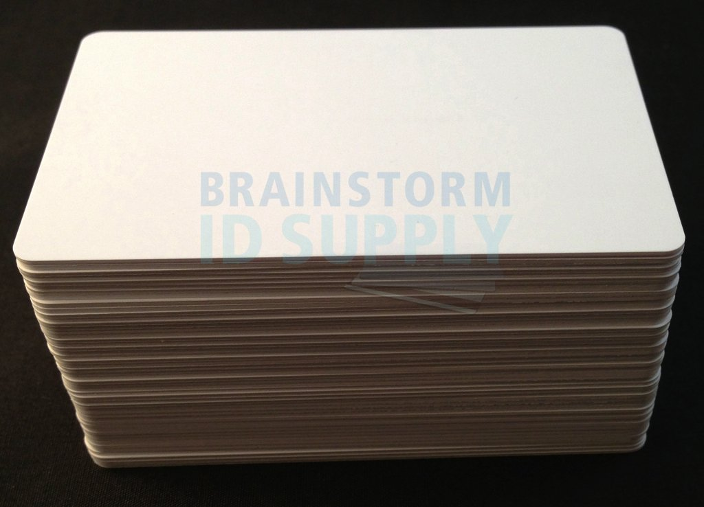 Inkjet PVC Cards (100 Pack) - Inkjet Printable PVC ID Cards with Brainstorm ID's Enhanced Ink Receptive Coating - Waterproof and Double Sided Printing - Works with Epson and Canon Inkjet Printers by Brainstorm ID (Image #2)