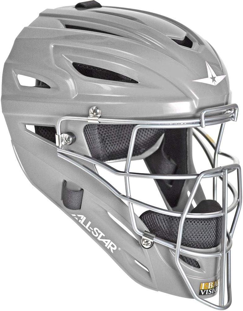 Adult All-Star UltraCool MVP Baseball//Softball Catcher/'s Helmet Black