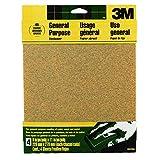 3M Aluminum Oxide Sandpaper, Coarse, 9-Inch x 11-Inch