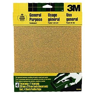 3M Aluminum Oxide Sandpaper, Coarse, 9-Inch by 11-Inch