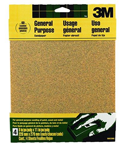 3M Aluminum Oxide Sandpaper, Coarse, 9-Inch by (Aluminum Sand)