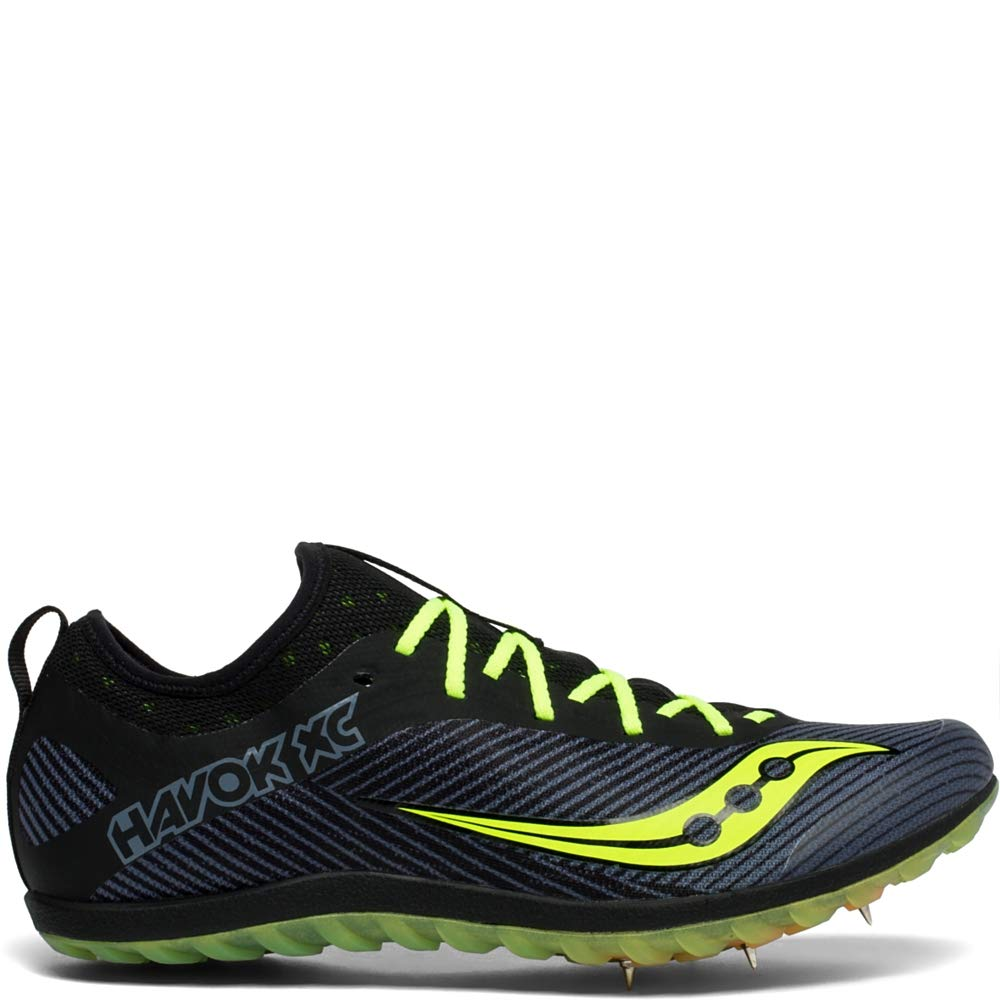 Saucony Men's Havok XC2 Track and Field Shoe, Black/Citron, 8.5 Medium US by Saucony