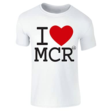d6ae33c4 Kids Adults I Love Manchester T-Shirt MCR Tee Manny Top UK Britain England:  Amazon.co.uk: Clothing