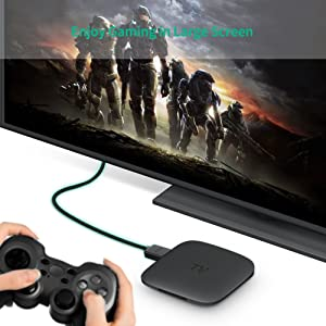 UGREEN HDMI Cable Right Angle 270 Degree Elbow HDMI Cord 4K Ultra HD 3D 1080P, Ethernet and Audio Return ARC Compatible for Nintendo Switch Xbox Playstation PS3 PS4 PC Laptop TV (3FT) (Tamaño: 3FT)